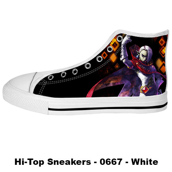 Ghirahim Demon Lord Shoes & Sneakers - Custom Zelda Canvas Shoes - TeeAmazing - 2