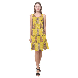Cocker Spaniel Sleeveless Splicing Shift Dress - TeeAmazing