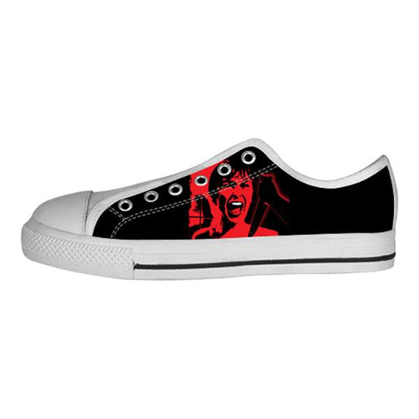 Psycho Shoes & Sneakers - Custom Psycho Canvas Shoes - TeeAmazing - 4