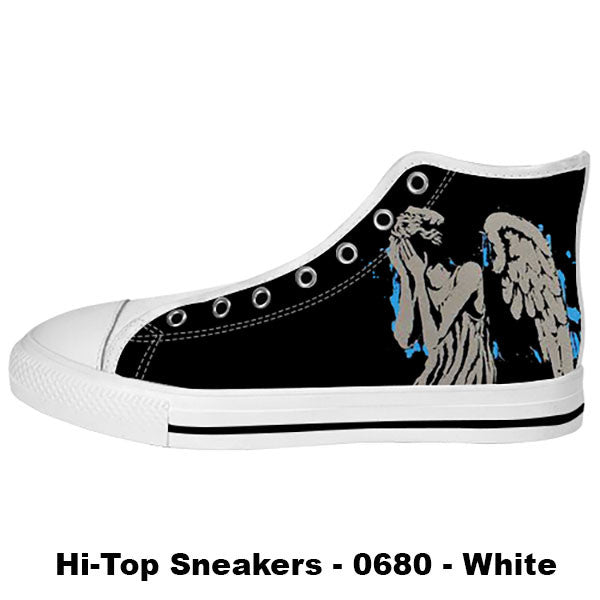 Weeping Angel Shoes & Sneakers - Custom Doctor Who Canvas Shoes - TeeAmazing