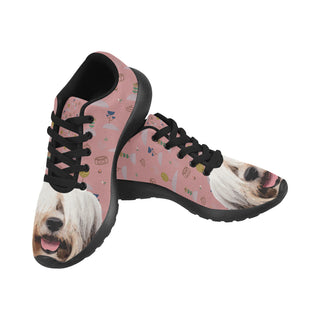 Tibetan Terrier Black Sneakers for Women - TeeAmazing