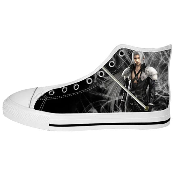 Sephiroth Shoes & Sneakers - Custom Final Fantasy Canvas Shoes - TeeAmazing - 2