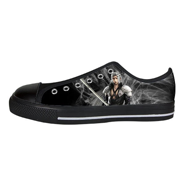 Sephiroth Shoes & Sneakers - Custom Final Fantasy Canvas Shoes - TeeAmazing - 3