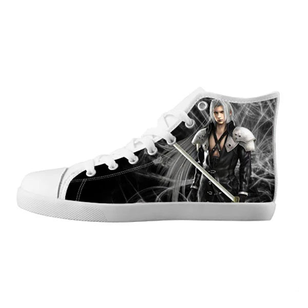 Sephiroth Shoes & Sneakers - Custom Final Fantasy Canvas Shoes - TeeAmazing - 5