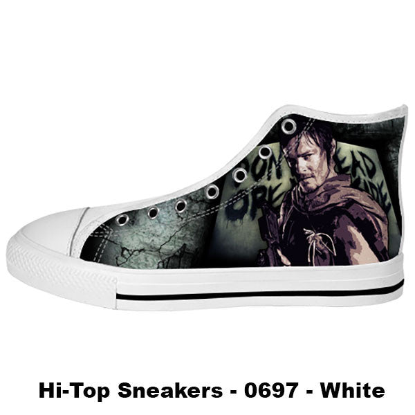 Daryl Dixon Shoes & Sneakers - Custom The Walking Dead Canvas Shoes - TeeAmazing - 2
