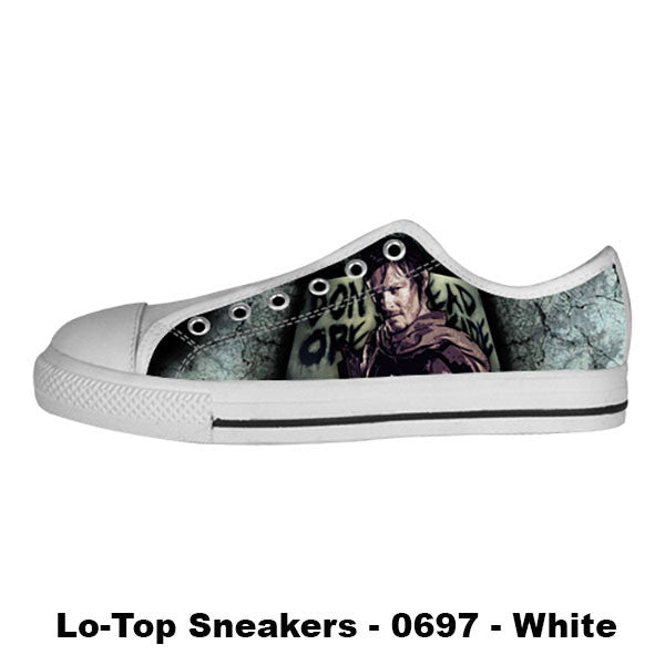Daryl Dixon Shoes & Sneakers - Custom The Walking Dead Canvas Shoes - TeeAmazing - 4