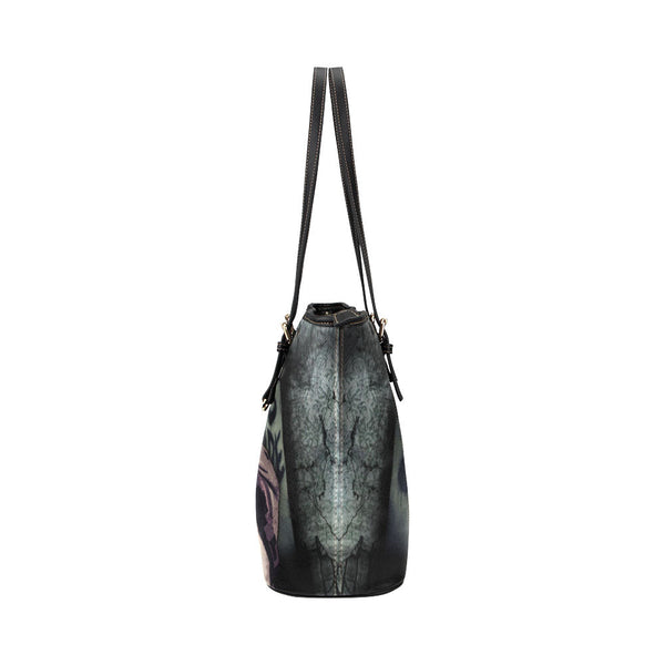 Daryl Dixon (Don't Open - Dead Inside) Leather Tote Bags - The Walking Dead Bags - TeeAmazing - 3