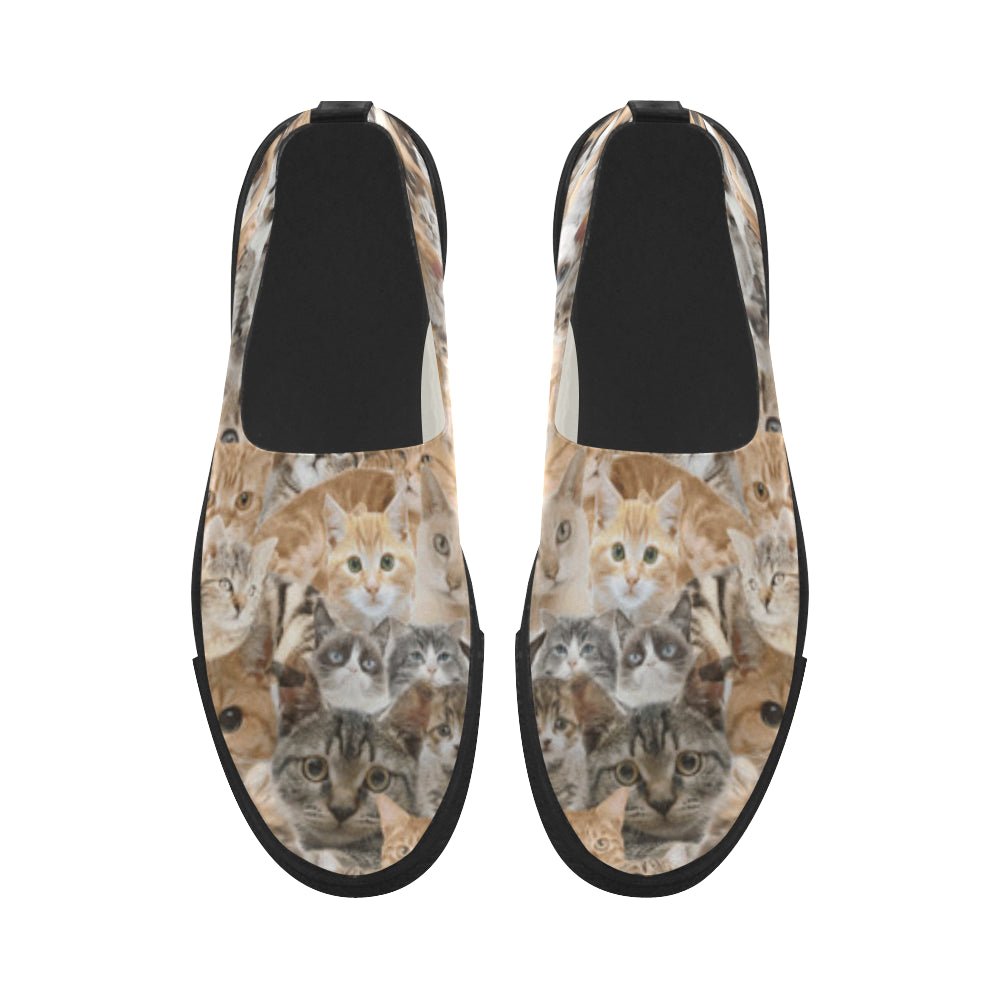 Cat Apus Slip-on Microfiber Women's Shoes - TeeAmazing