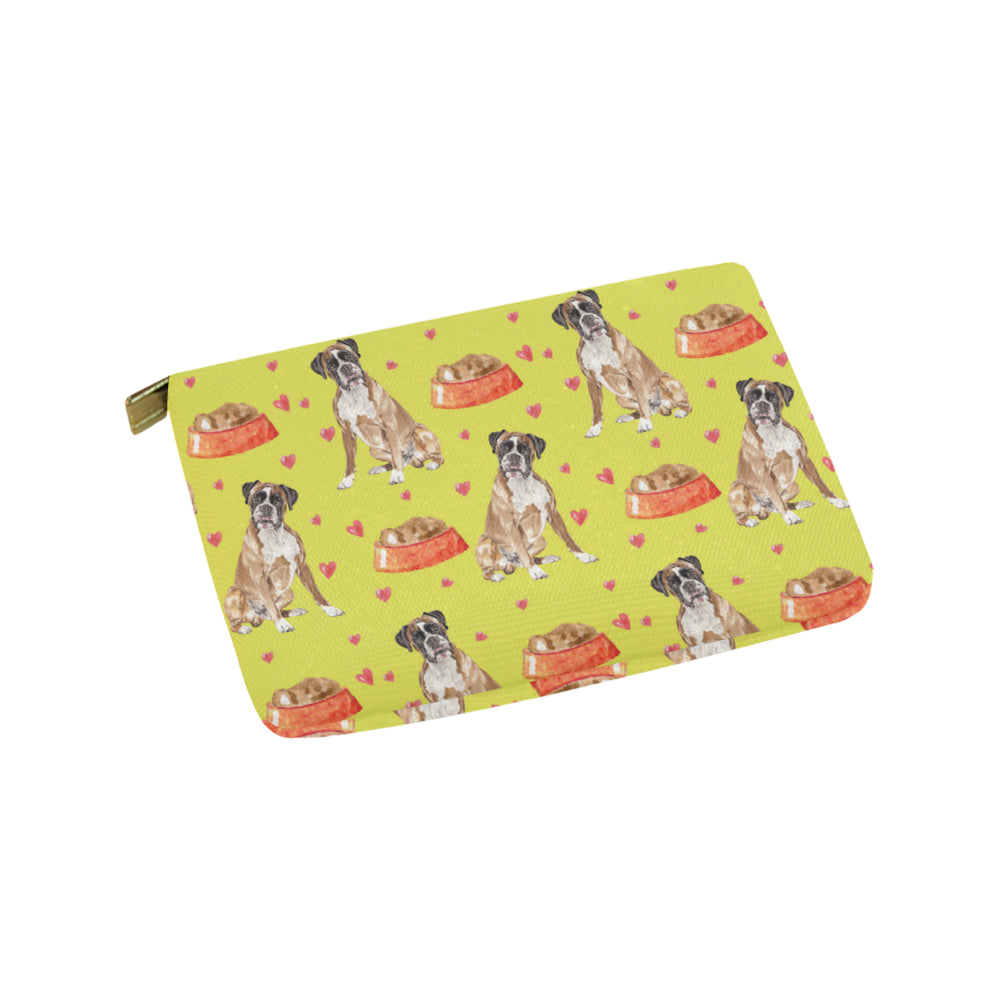 Boxer Water Colour Pattern No.2 Carry-All Pouch 9.5x6 - TeeAmazing