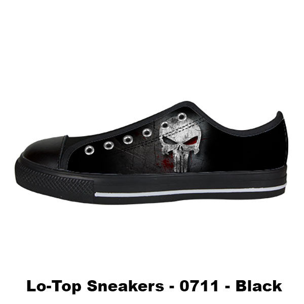 The Punisher Shoes & Sneakers - Custom The Punisher Canvas Shoes - TeeAmazing