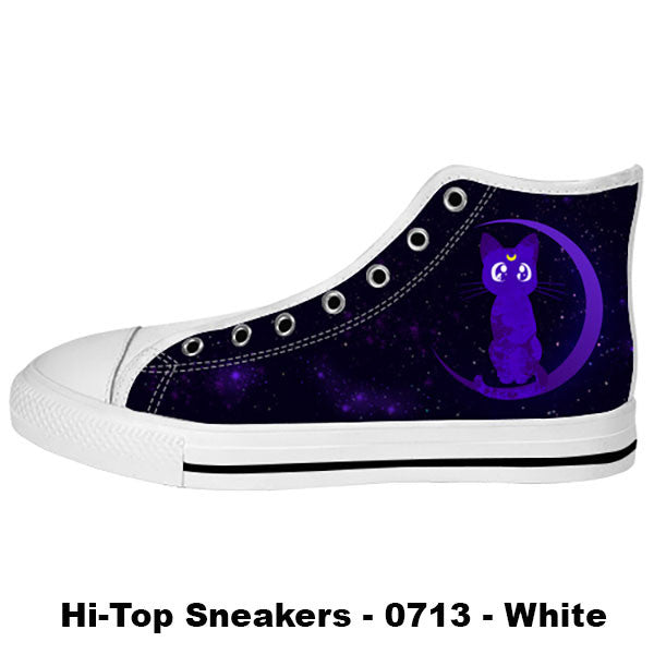 Luna Shoes & Sneakers - Custom Sailor Moon Canvas Shoes - TeeAmazing - 2