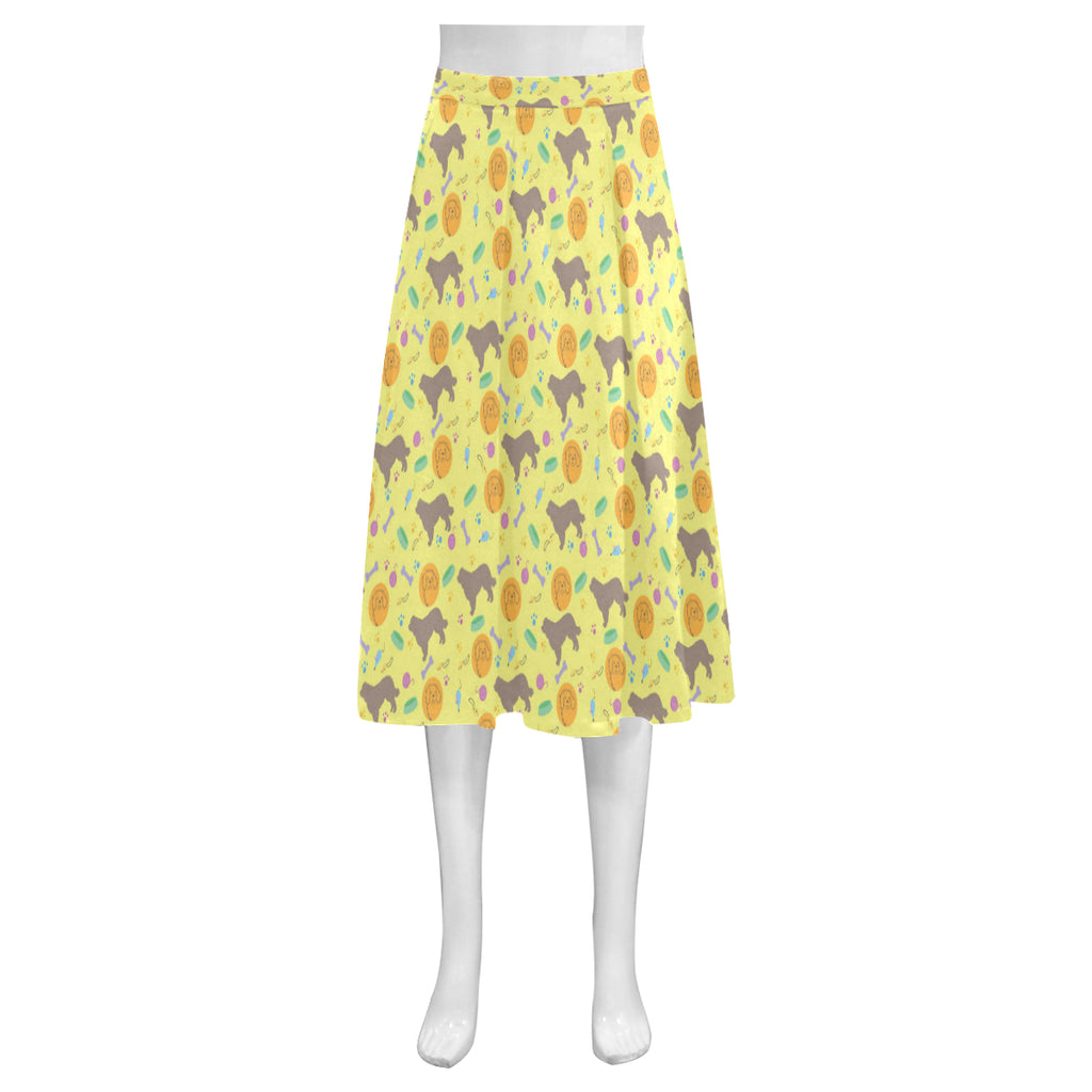 Newfoundland Pattern Mnemosyne Women's Crepe Skirt(Model D16) - TeeAmazing