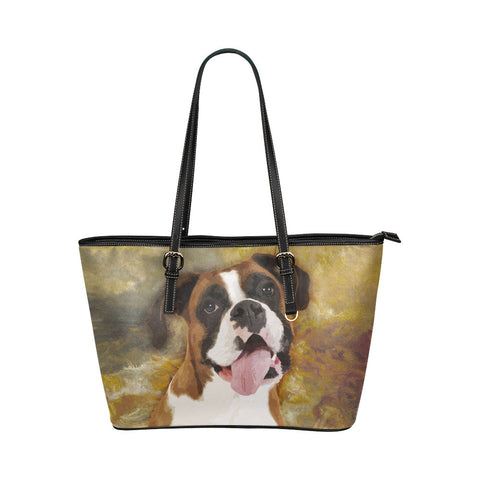 Boxer Leather Tote Bags - Boxer Bags - TeeAmazing