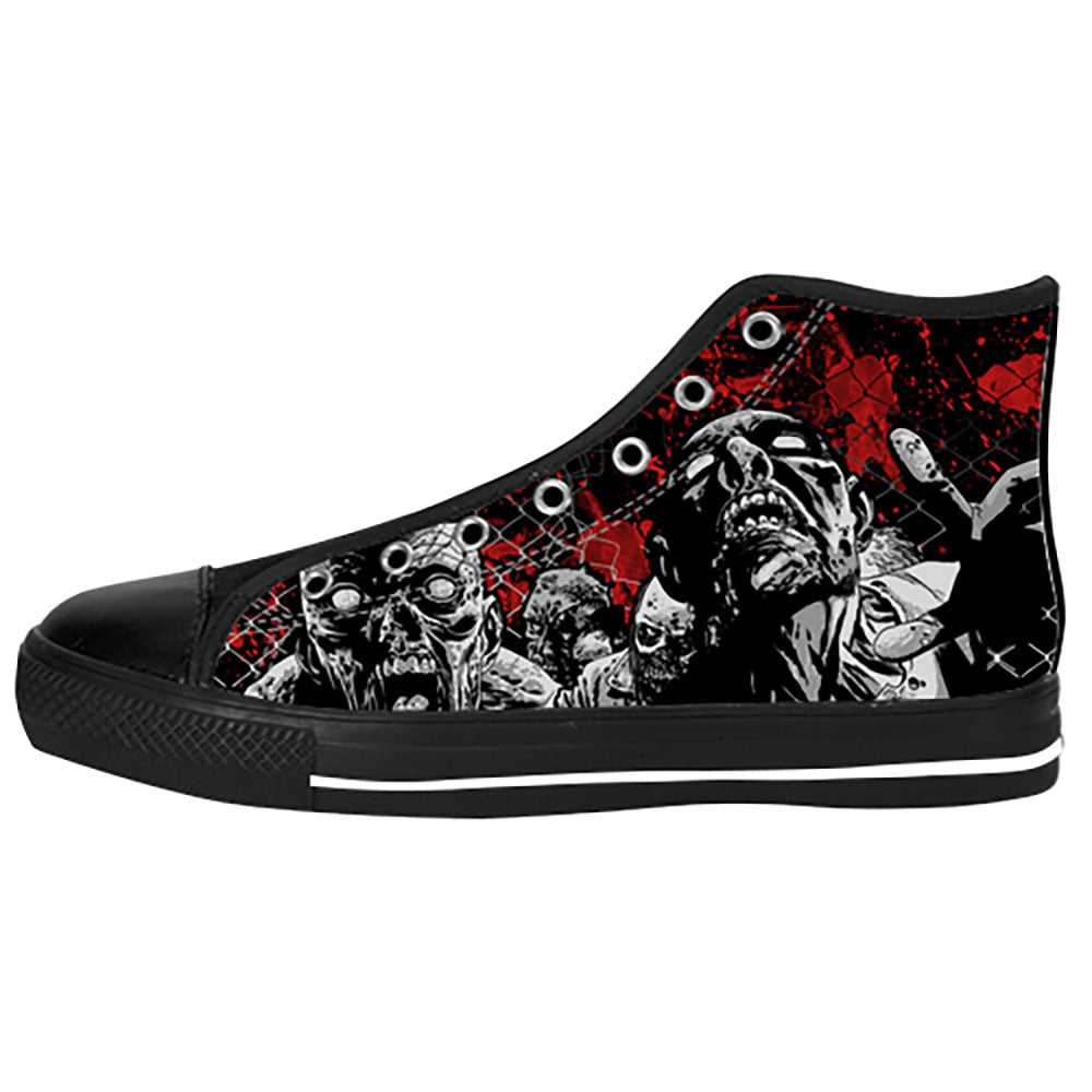 Zombies Shoes & Sneakers - Custom The Walking Dead Canvas Shoes - TeeAmazing - 1