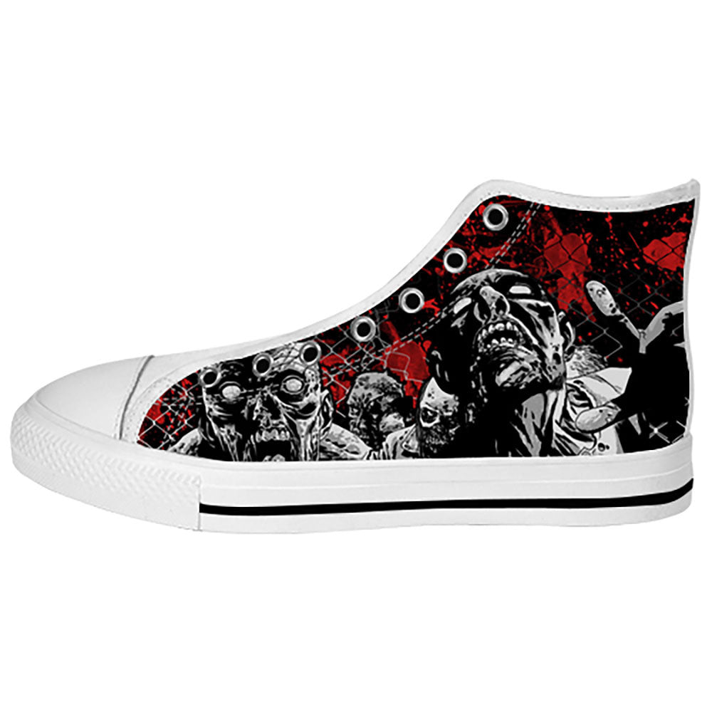 Zombies Shoes & Sneakers - Custom The Walking Dead Canvas Shoes - TeeAmazing - 2
