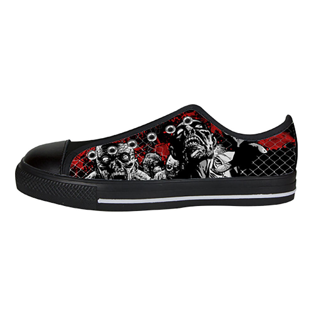 Zombies Shoes & Sneakers - Custom The Walking Dead Canvas Shoes - TeeAmazing