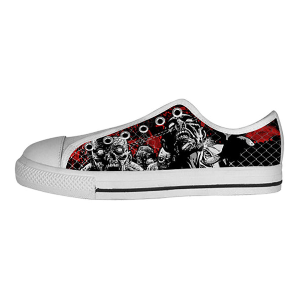 Zombies Shoes & Sneakers - Custom The Walking Dead Canvas Shoes - TeeAmazing - 4