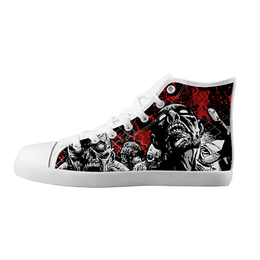 Zombies Shoes & Sneakers - Custom The Walking Dead Canvas Shoes - TeeAmazing - 5