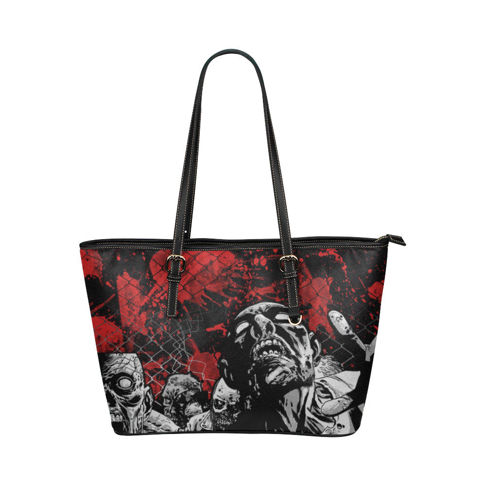 Zombies Leather Tote Bags - The Walking Dead Bags U699244