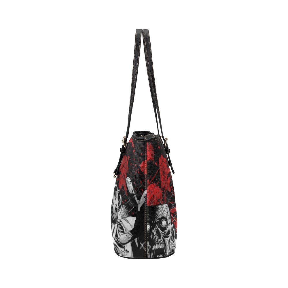 Zombies Leather Tote Bags - The Walking Dead Bags - TeeAmazing