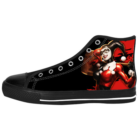 Harley Quinn Shoes & Sneakers - Custom Batman Canvas Shoes - TeeAmazing