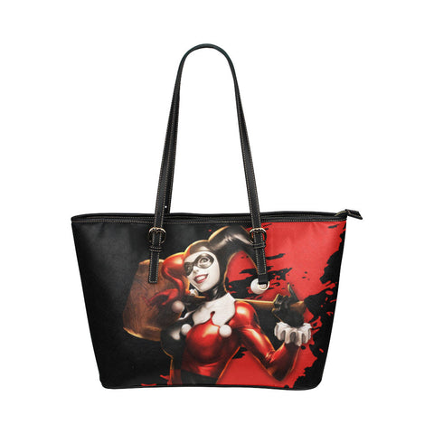 Harley Quinn Leather Tote Bags - Batman Bags - TeeAmazing