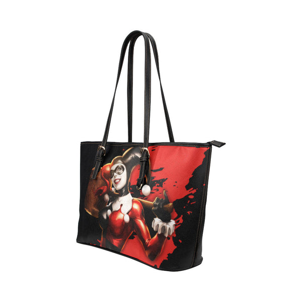 Harley Quinn Leather Tote Bags - Batman Bags - TeeAmazing - 2