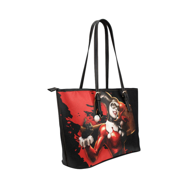 Harley Quinn Leather Tote Bags - Batman Bags - TeeAmazing - 4