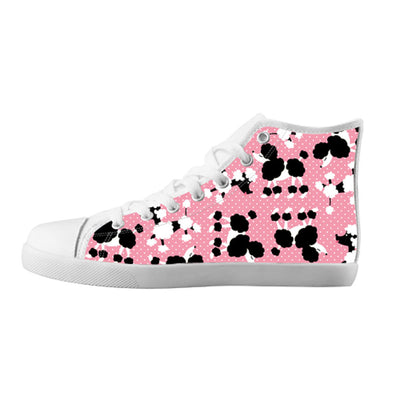 Poodle Shoes & Sneakers - Custom Poodle Canvas Shoes - TeeAmazing