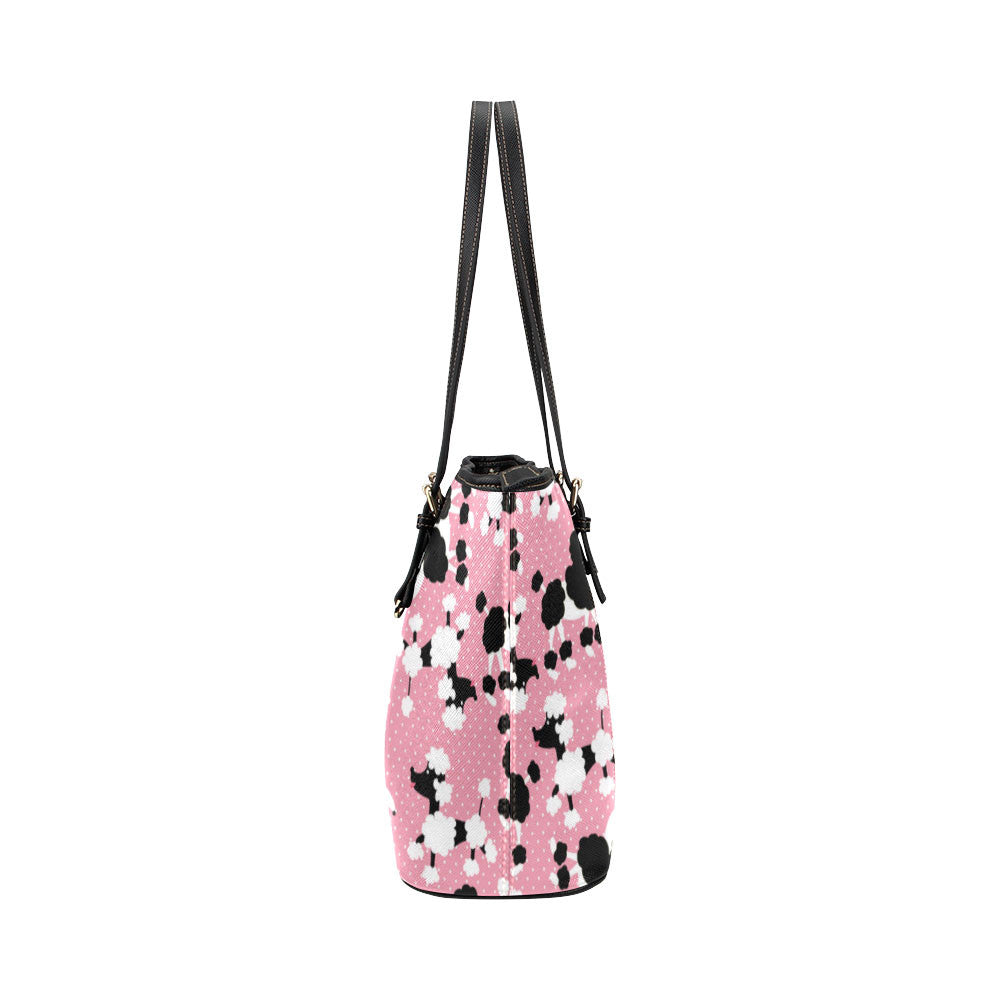 Poodle Leather Tote Bags - Poodle Bags - TeeAmazing