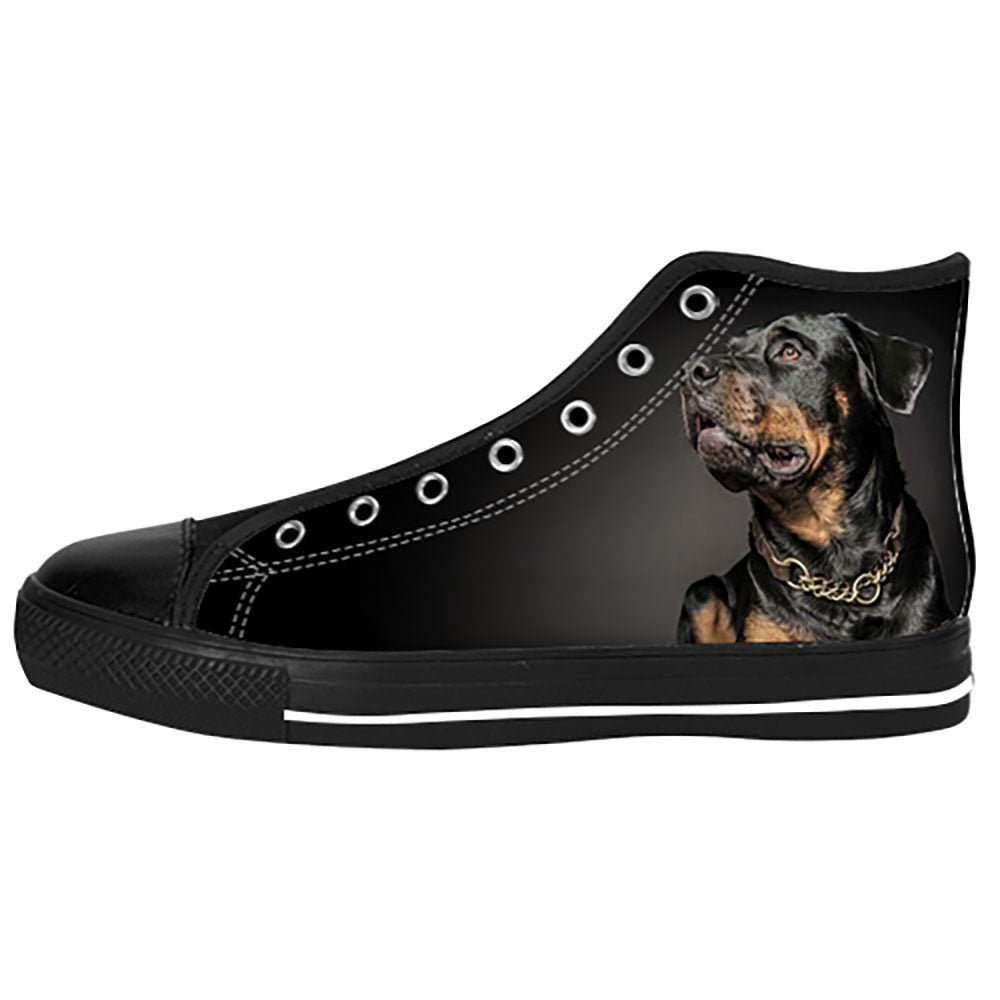 Rottweiler Dog Shoes & Sneakers - Custom Rottweiler Canvas Shoes - TeeAmazing