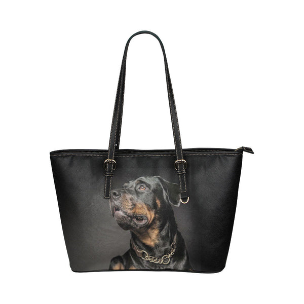 Rottweiler Dog Leather Tote Bags - Rottweiler Bags - TeeAmazing - 1