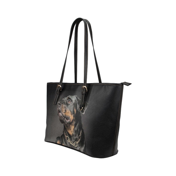 Rottweiler Dog Leather Tote Bags - Rottweiler Bags - TeeAmazing - 2