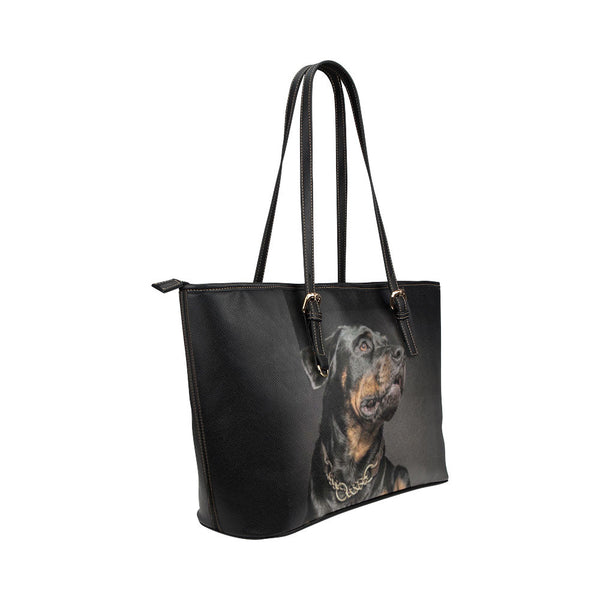 Rottweiler Dog Leather Tote Bags - Rottweiler Bags - TeeAmazing - 4