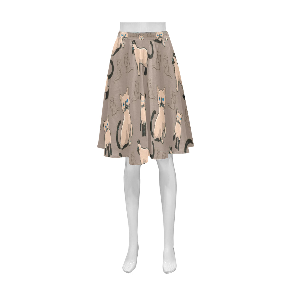 Tonkinese Cat Athena Women's Short Skirt (Model D15) - TeeAmazing