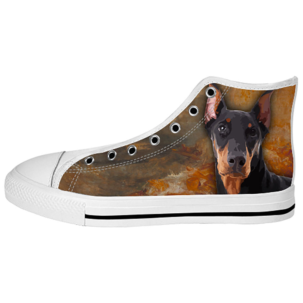 Doberman Pinscher Shoes & Sneakers - Custom Doberman Pinscher Canvas Shoes - TeeAmazing
