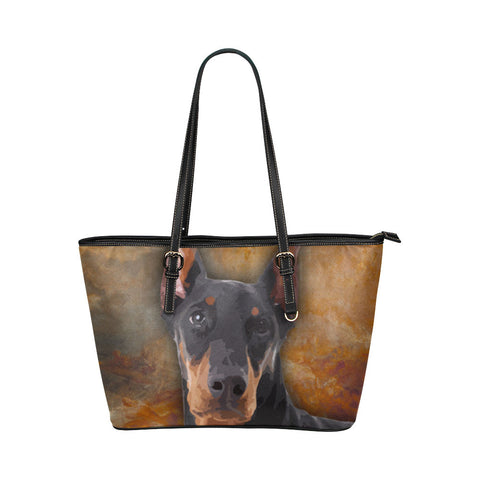 Doberman Pinscher Leather Tote Bags - Doberman Pinscher Bags - TeeAmazing