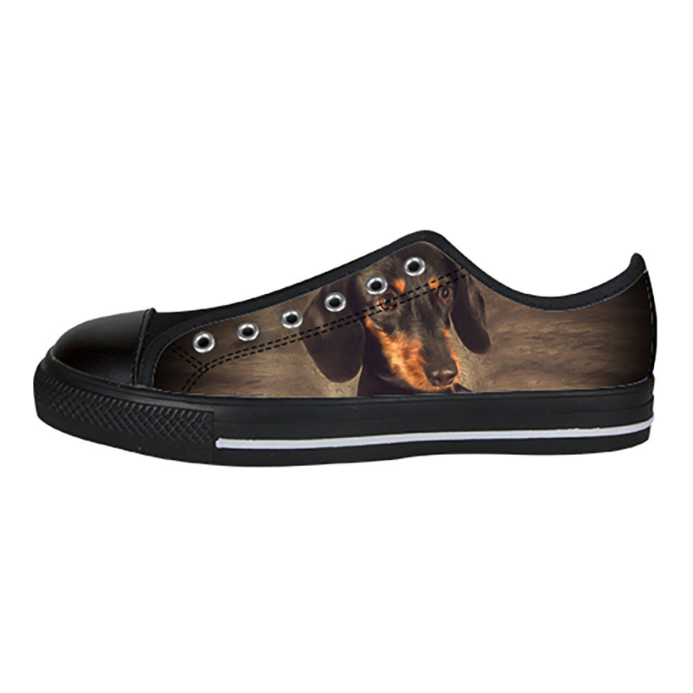 Dachshund Shoes & Sneakers - Custom Dachshund Canvas Shoes - TeeAmazing