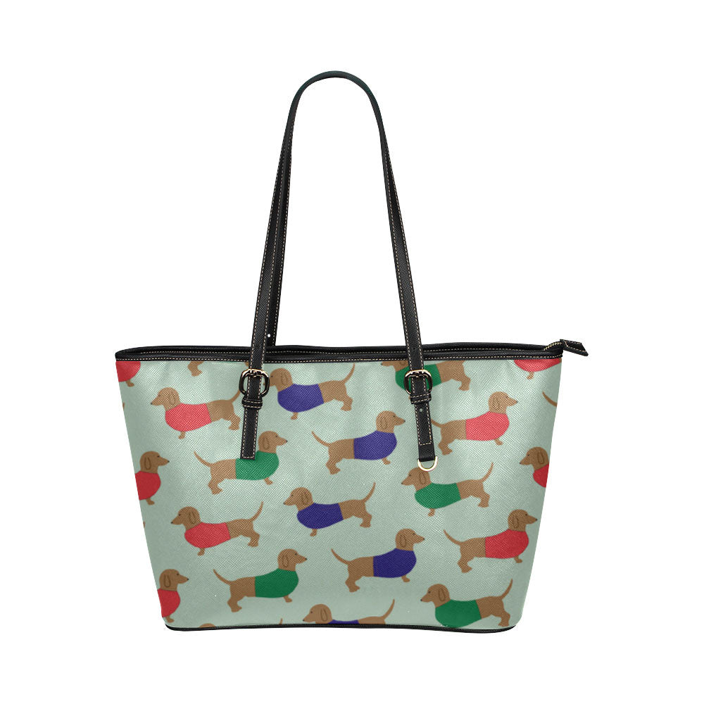 Dachshund Dog Leather Tote Bags - Dachshund Bags - TeeAmazing
