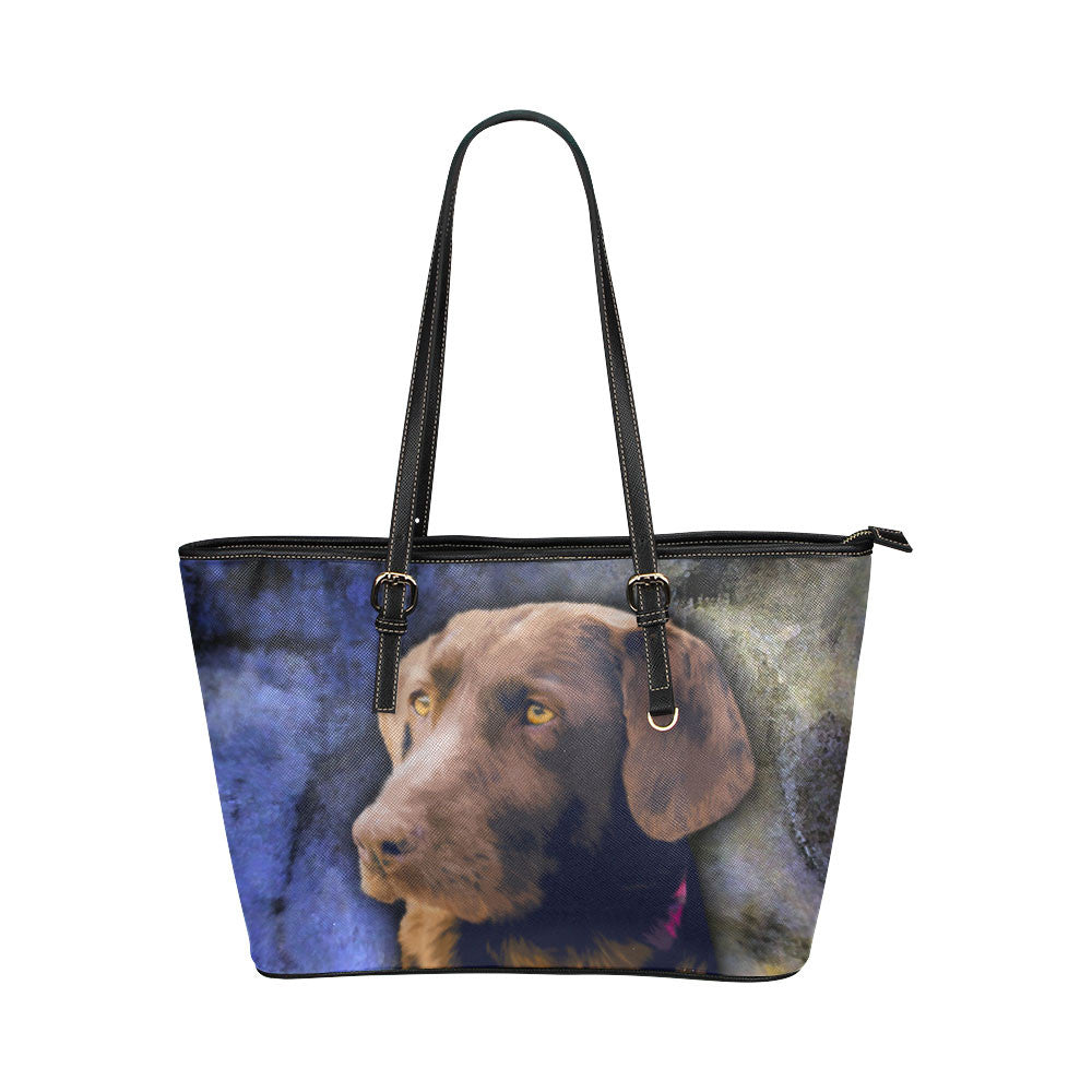 Labrador Retriever Leather Tote Bags - Labrador Retriever Bags - TeeAmazing