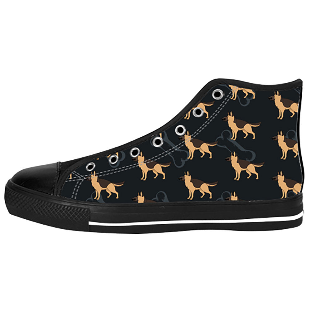 German Shepherd Shoes & Sneakers - Custom German Shepherd Canvas Shoes - TeeAmazing