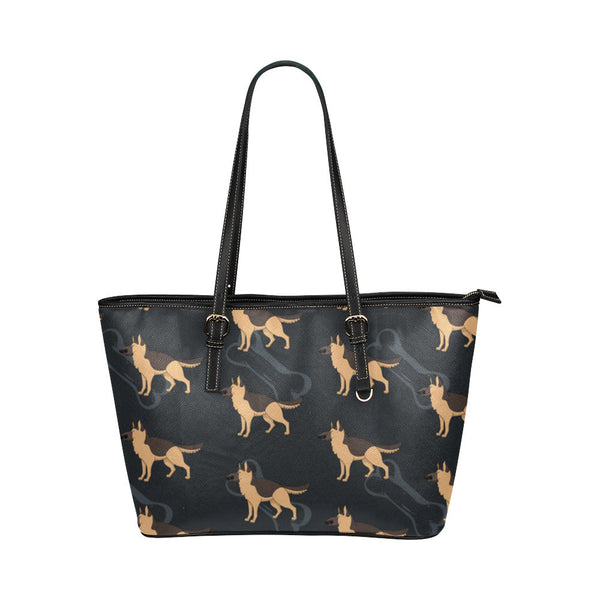 German Shepherd Leather Tote Bags - German Shepherd Bags - TeeAmazing - 1