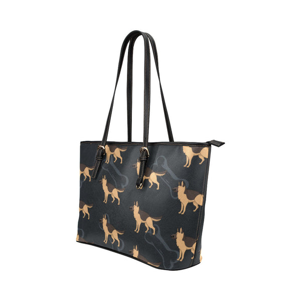 German Shepherd Leather Tote Bags - German Shepherd Bags - TeeAmazing - 2