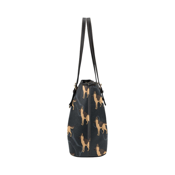 German Shepherd Leather Tote Bags - German Shepherd Bags - TeeAmazing - 3