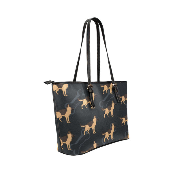 German Shepherd Leather Tote Bags - German Shepherd Bags - TeeAmazing - 4