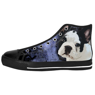 French Bulldog Shoes & Sneakers - Custom French Bulldog Canvas Shoes - TeeAmazing