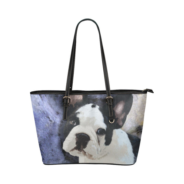 French Bulldog Leather Tote Bags - French Bulldog Bags - TeeAmazing - 1
