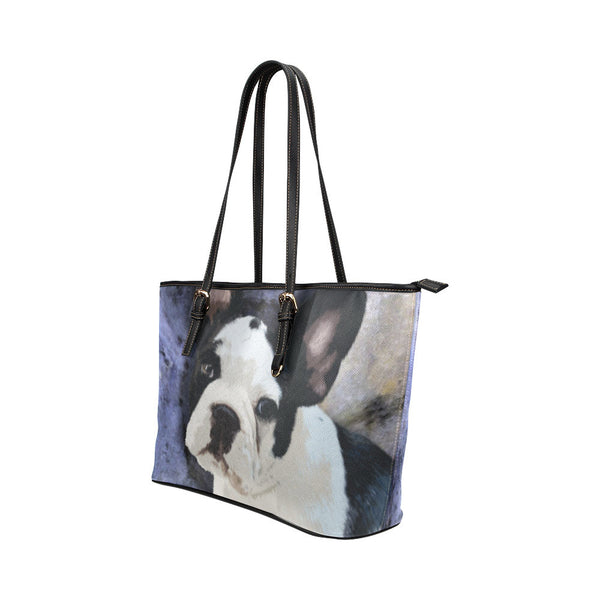 French Bulldog Leather Tote Bags - French Bulldog Bags - TeeAmazing - 2