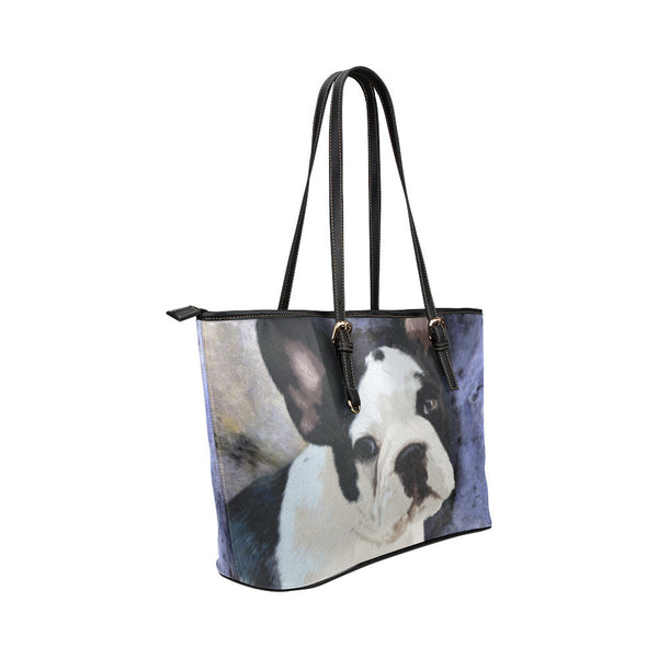 French Bulldog Leather Tote Bags - French Bulldog Bags - TeeAmazing - 4