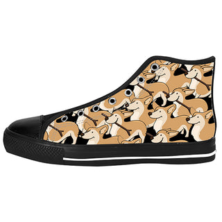 Corgi Shoes & Sneakers - Custom Corgi Canvas Shoes - TeeAmazing